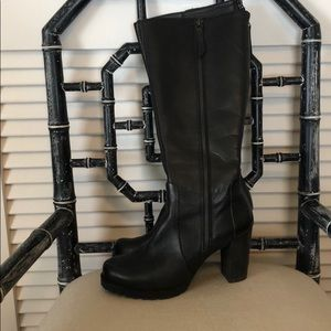 Black Paul Green rubber sole boots 7